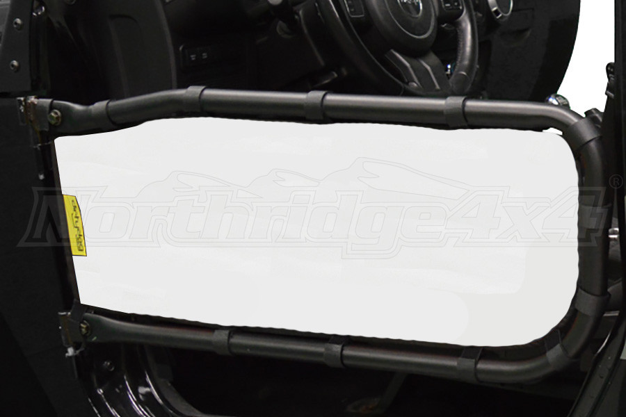 Dirty Dog 4x4 Olympic Front Tube Door Screen, White (Part Number:J2TS07OYWH)