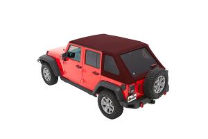 Bestop Trektop NX Plus Soft Top Red Twill  - JK 4Dr