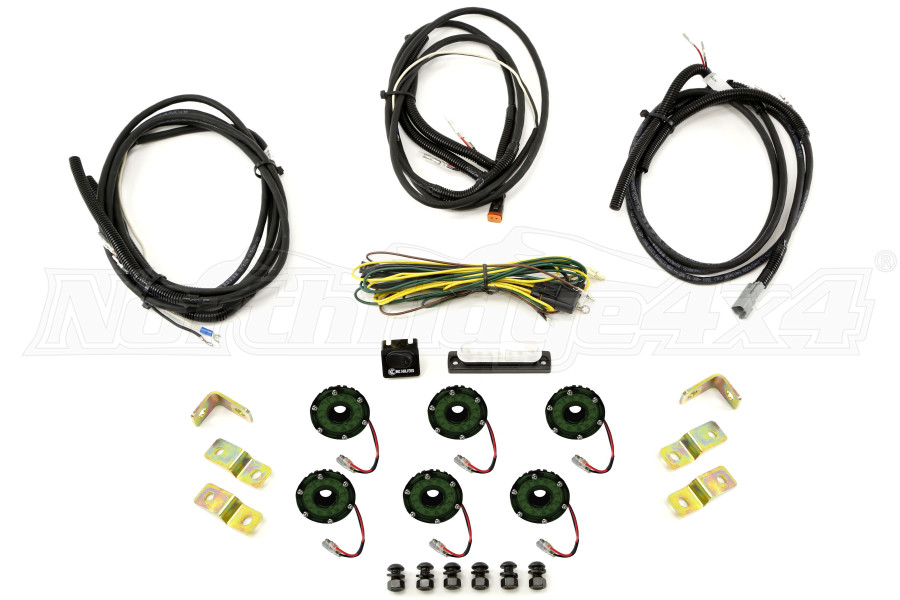 KC Hilites Rock Light Kit, 6 Lights, Green (Part Number:91029)
