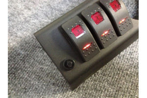 sPOD 6 Switch 2-1/16in empty gauge hole dual lit led switches Amber (Part Number: )