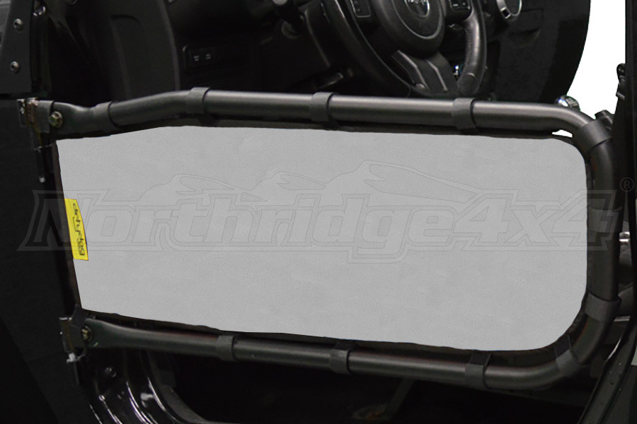 Dirty Dog 4x4 Olympic Front Tube Door Screen, Grey  (Part Number:J2TS07OYGY)