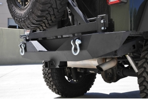 DV8 Offroad RS-1 Rear Bumper w/Tire Carrier and Aluminum Handle (Part Number: )