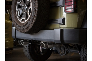 aFe Power Vulcan Series 2.5in Axle-Back Exhaust System - Polished - JK 3.6L/3.8L