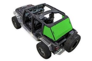 SpiderWebShade 1-Piece Cargo Shade Cover - Green - JK 4Dr