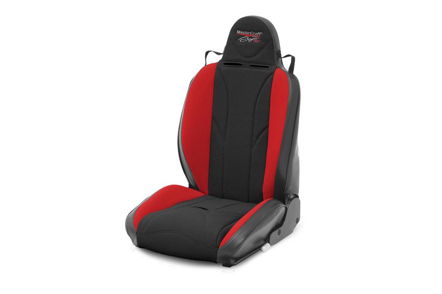 MasterCraft Baja RS Seat w/Fixed Headrest and BRS Stitch Pattern - Black/Red