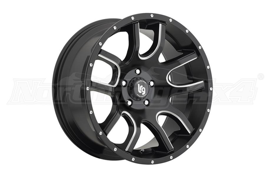 Pro Comp LRG108 20x9 5x5 Black w/ Milled  (Part Number:10829073900)
