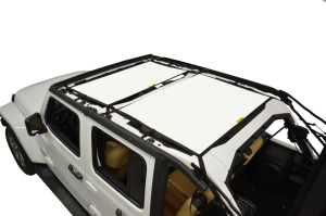 Dirty Dog 4x4 Sun Screen Front and Rear - White (Part Number: )
