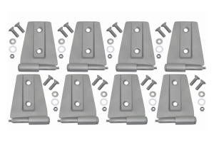 Kentrol 8-Pieces Door Hinge Set - Bare  - JK 4Dr