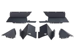 Rugged Ridge Rear Aluminum Inner Fender Liners - Black - JT
