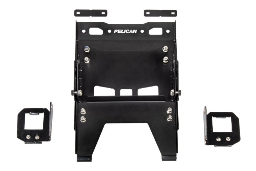 Pelican Cargo Case Side Mount (Toyota Deck Rail) - Black