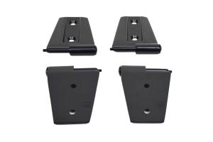Kentrol 4-Pieces Door Hinge Set - Powdercoat Black  - JK 2Dr