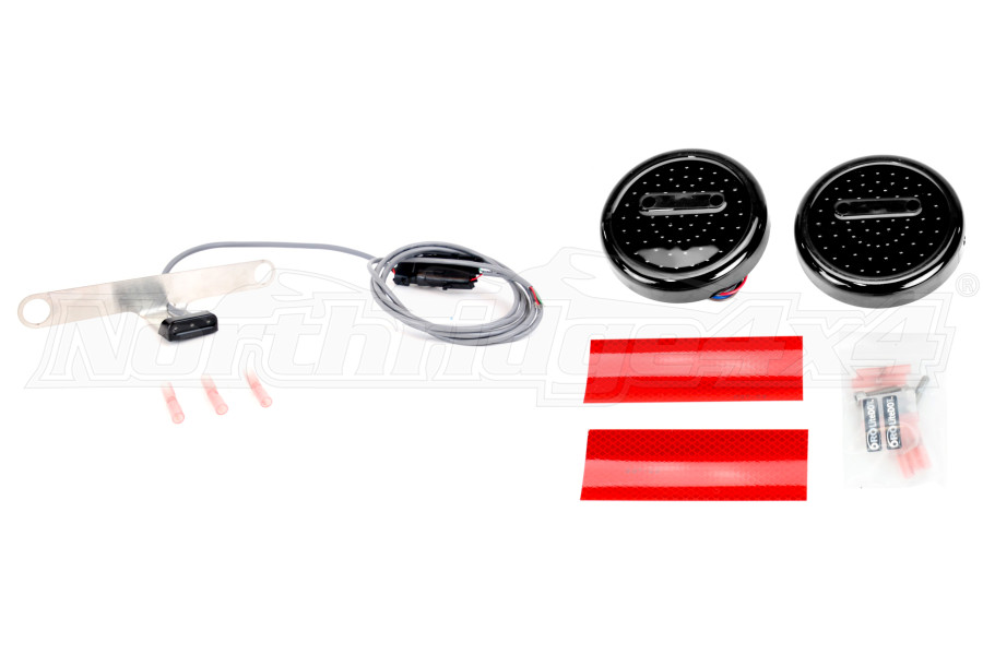 Off Road Only LiteDOT LED Tail Lights and PlateLITE Package - LJ/TJ/YJ