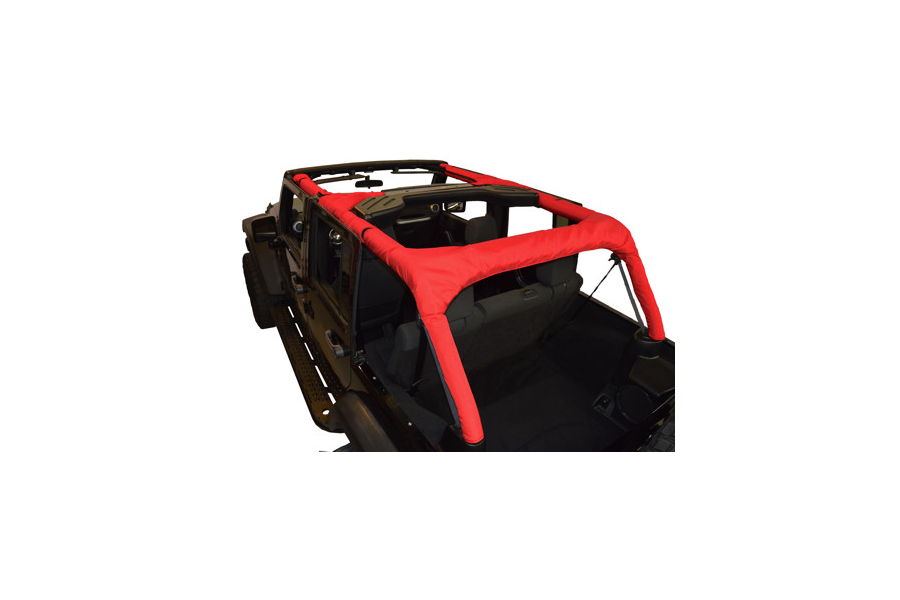 Dirty Dog 4x4 Roll Bar Covers Red (Part Number:J4RBC07RD)