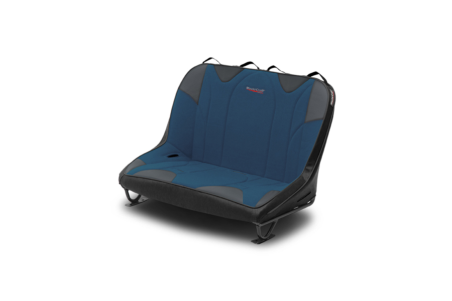 MasterCraft Rubicon Dirtsport Bench Seat w/o Headrests Black / Blue (Part Number:310106)