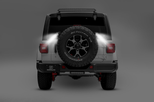 T-REX ZROADZ Rear Tire Carrier Mounting Bracket Kit w/2 - 3in Cube LED Work Lights and Universal Wire Harness (Part Number: )