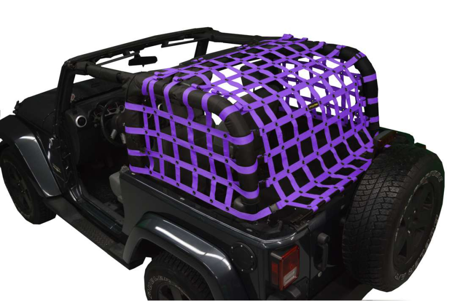 Dirty Dog 4x4 Rear Netting Purple (Part Number:J2NN07RCPR)