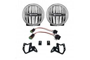 KC Hilites Gravity LED G4 Amber Fog Lights - JT/JL Sport-S Plastic Bumper