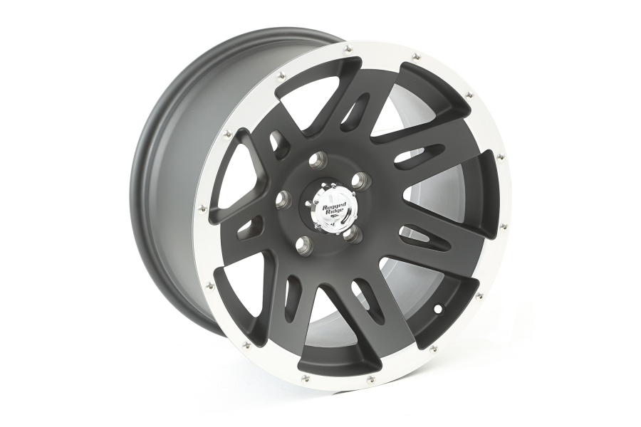 Rugged Ridge XHD Wheel, Black w/ Machined Lip 17X9 5x5 (Part Number:15311.10)