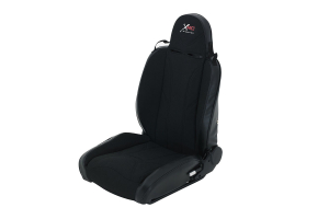 Smittybilt XRC Suspension Seat, Driver Side, Black/Black - JK/TJ/LJ/YJ/CJ