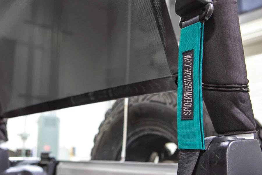 SpiderWebShade Seatbelt Silencers - Teal - JK 2Dr