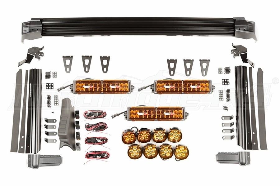 Rugged Ridge Fast Track Kit - Includes 3 Lightbars, 8 Rounds - JK
