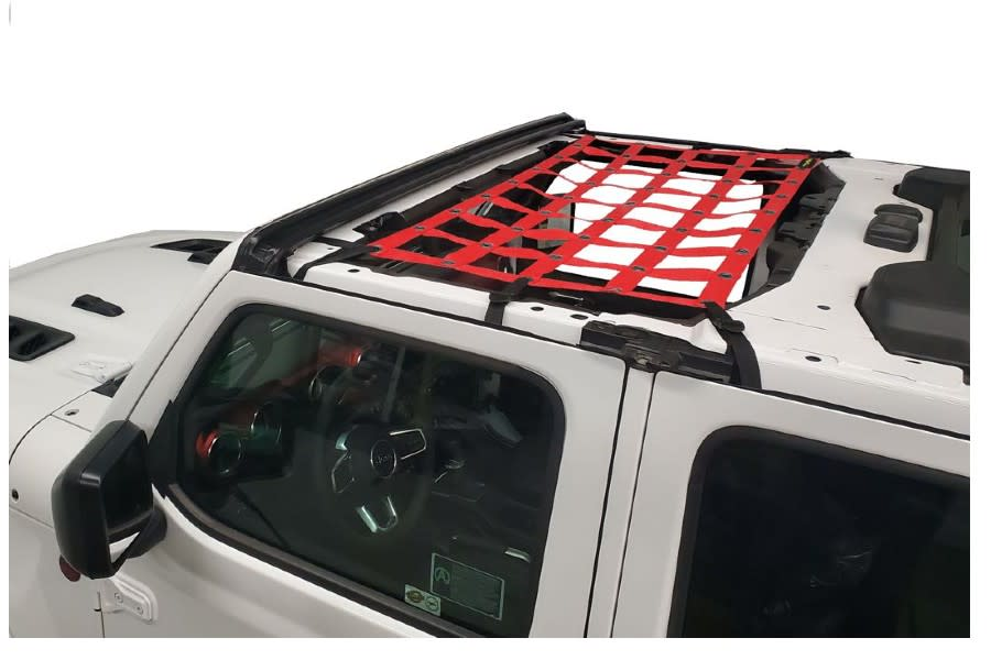 Dirty Dog 4x4 Front Seat Netting-Red - JT