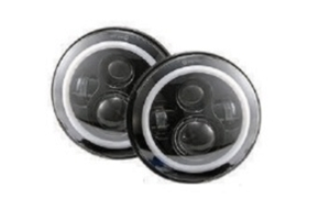 Quake LED Tempest Series 7in RGB HD Accent Headlights - JK/TJ