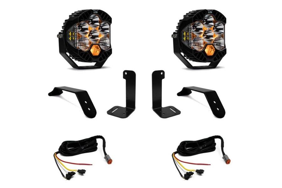 Baja Designs Dual LP6 Series Bumper Light Kit w/ Upfitter Harness - JT/JL w/ Plastic Bumper