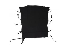 Rampage Combo California Brief/Safari Style Soft Top, Black - JL 2DR
