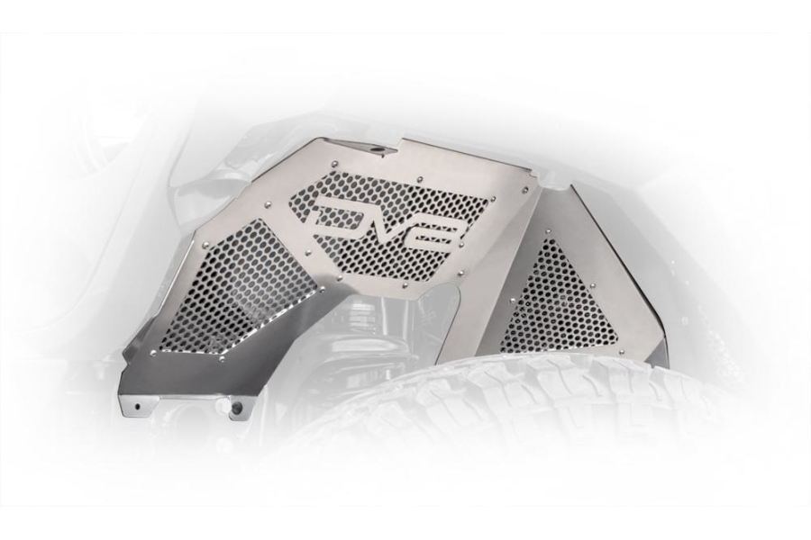 DV8 Offroad Front Inner Fenders, Raw  (Part Number:INFEND-03FR)