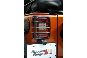Rugged Ridge Tail Light Euro Guards Textured Black (Part Number: )