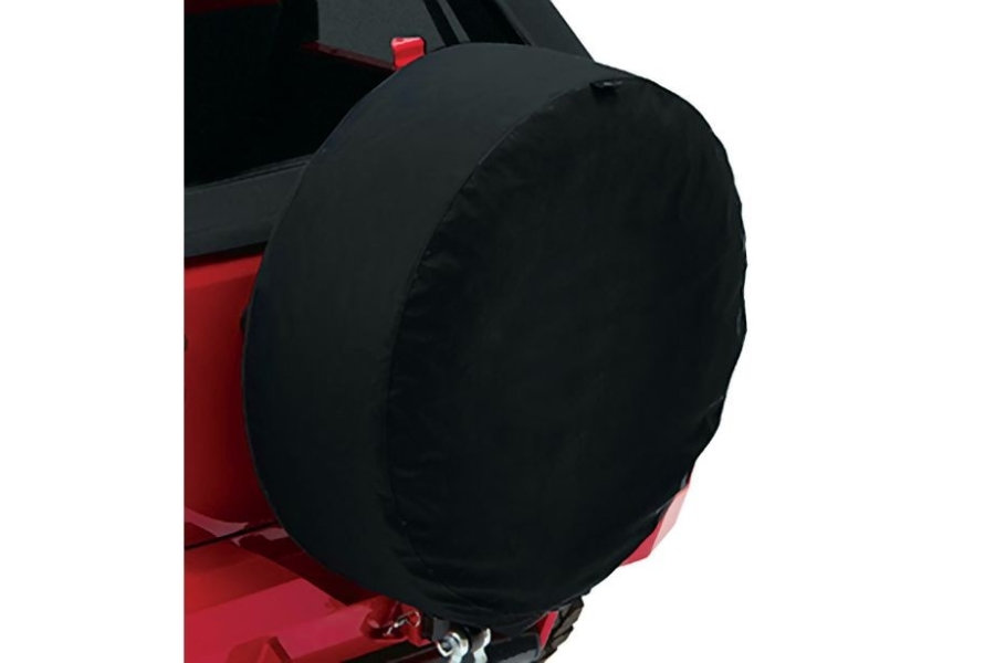 Bestop 33in Spare Tire Cover Black Twill  (Part Number:61033-17)