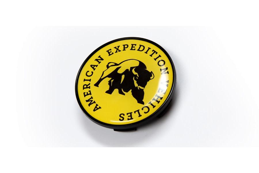 AEV Large Bore Logo Center Cap - Yellow