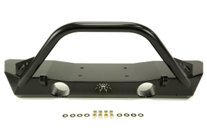 Poison Spyder Brawler Lite Front Bumper w/ Brawler Bar and Tabs Black ( Part Number: 17-59-010-DBP1)