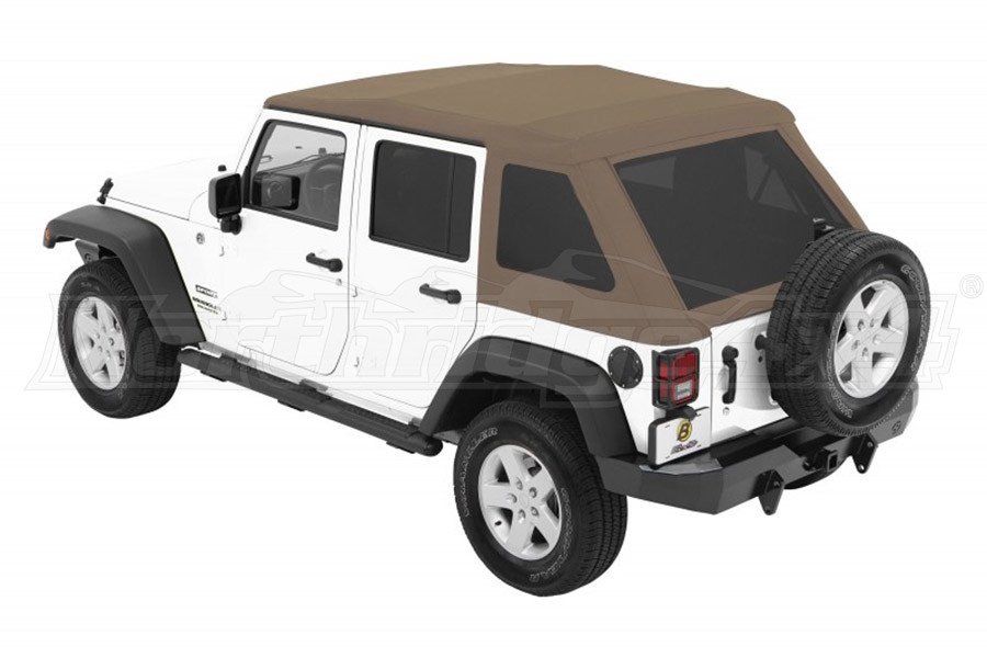 Bestop Trektop NX Glide Soft Top with Tinted Side & Rear Windows - Tan Twill (Part Number:54923-71)