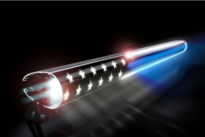 AeroLidz 52in Dual Row 'Thin Blue Line American Flag' Light Bar Insert