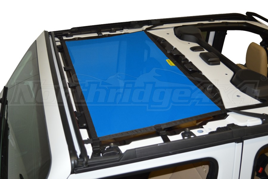 Dirty Dog 4x4 Sun Screen Front - Blue (Part Number:JL4S18F1BL)