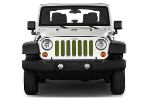 Under The Sun Inserts Jeep Green Metallic Grill Insert (Part Number: )