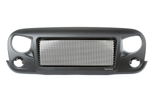 Rugged Ridge Spartan Grill Satin Black ( Part Number: 12034.01)