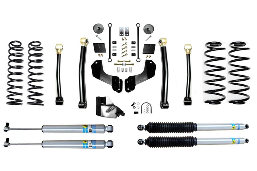 Evo Manufacturing 4.5in Enforcer Overland Stage 3 Lift Kit w/ Bilstein Shocks - JL 4Dr Diesel