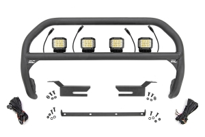 Rough Country Nudge Bar w/ Osram Wide Angle Series LED Lights  - Ford Bronco