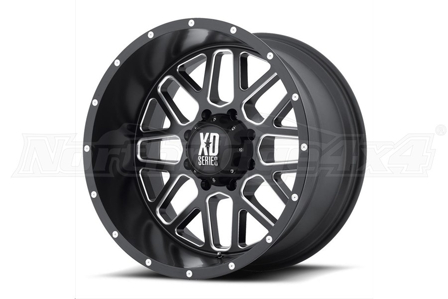 XD Series XD820 Grenade Non-Beadlock Wheel Satin Black, 17x9 5x5 (Part Number:XD82079050912N)