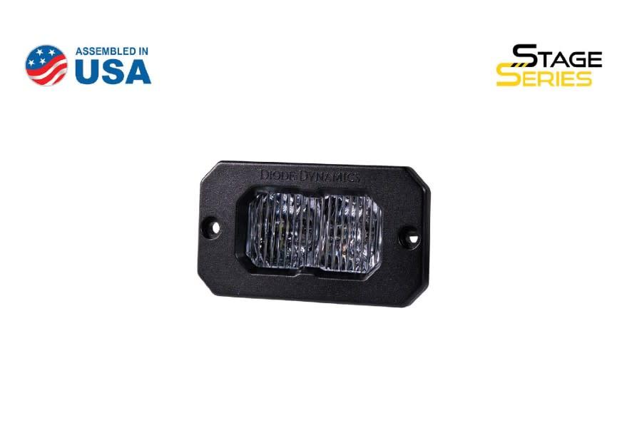 Diode Dynamics SSC2 2IN Sport Flush Mount LED Fog Pod, WBL