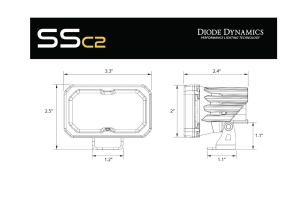 Diode Dynamics SSC2 2in Pro Standard Driving ABL, Pair