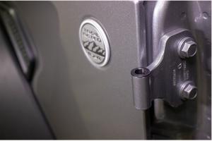Kentrol Door Hinge Liners - Textured Black  - JL 2Dr
