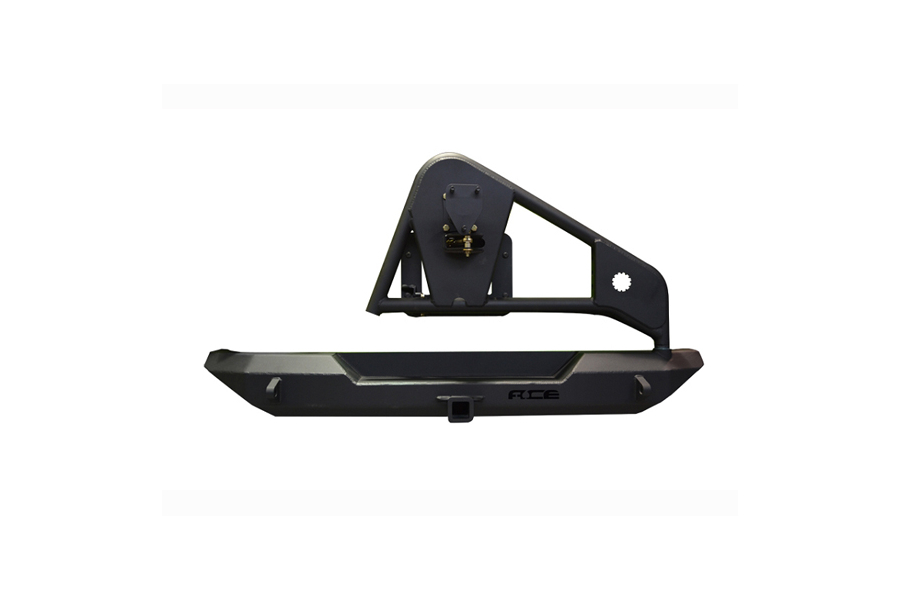 Ace Engineering Pro Series Rear Bumper w/Tire Carrier and Hitch Black ( Part Number: JKPSRBTCNO)
