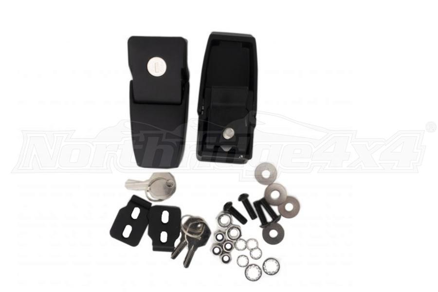 Rampage Locking Hood Latch Kit, Black - JT/JL