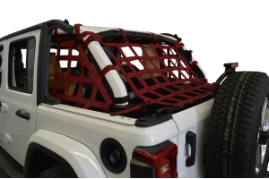 Dirty Dog 4x4 3pc Cargo Side Netting Kit, Maroon - JL 4Dr