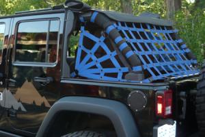 Dirty Dog 4x4 Rear Netting Blue - JK 4dr
