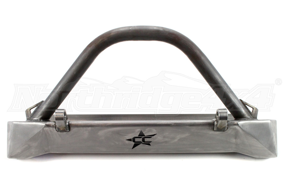 Crawler Conceptz Skinny Series Front Bumper w/Bar and Tabs Bare (Part Number:SB-TJFB-004)